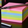 Photo of a stack of sticky notes