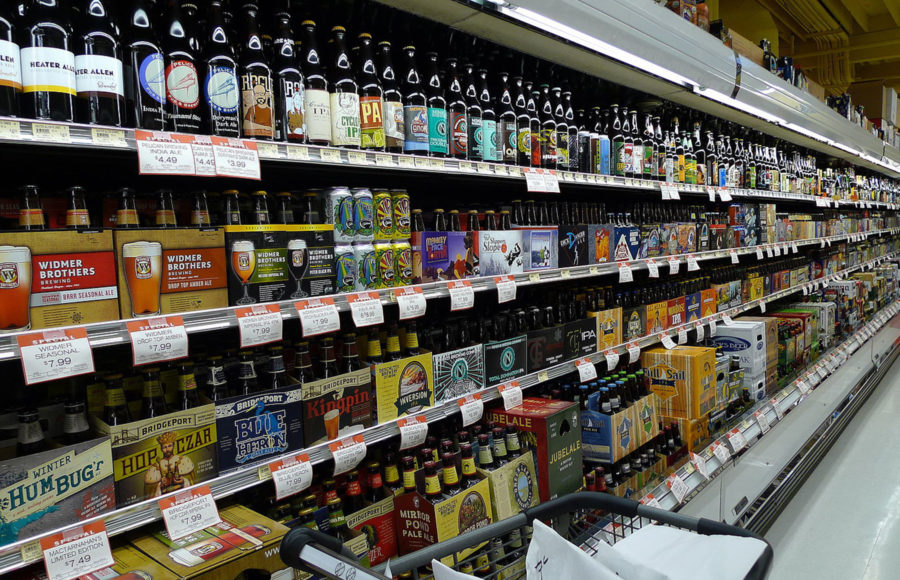 Photo of beer aisle