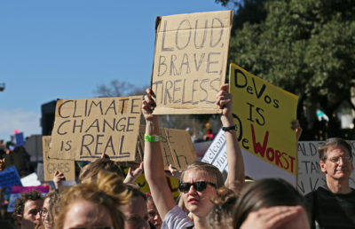 Photo of climate change protest