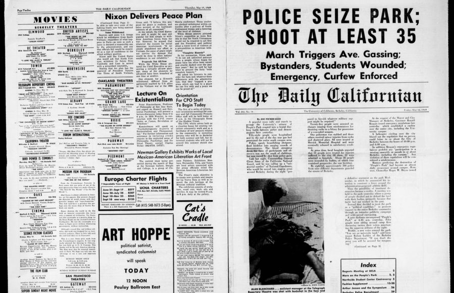 Photo of archived Daily Californian newspaper