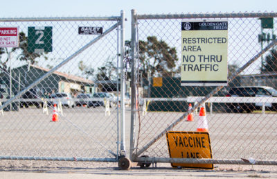 Photo of Golden Gate Fields Vaccination Site
