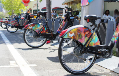 Photo of Lyft e-bikes
