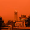 Photo of orange skies in Berkeley