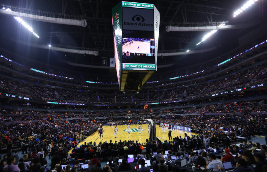 Photo of NBA game in Mexico