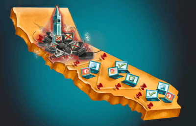 Illustration of the UCs and their technology on a California map