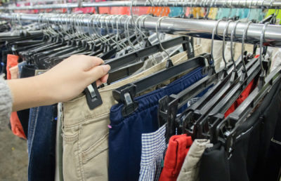 Photo of clothes shopping
