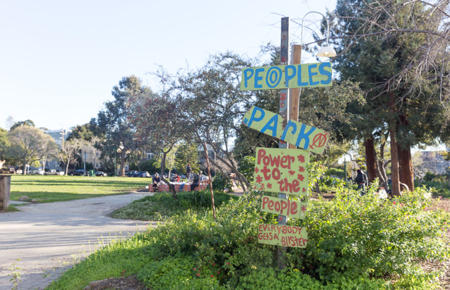 photo of People's Park signs