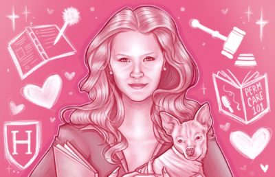 Illustration of Elle Woods from Legally Blonde