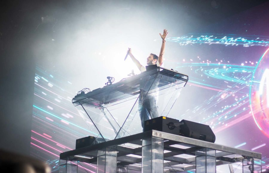 Photo of Zedd performing during a concert