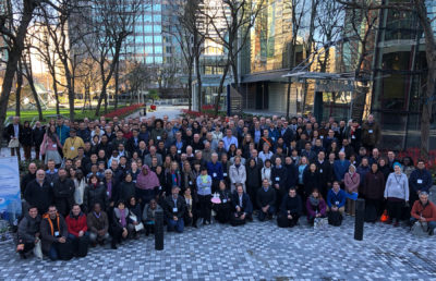 Photo of climate conference participants