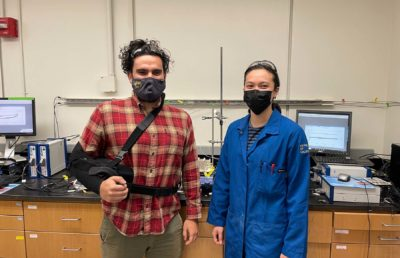 Photo of two researchers