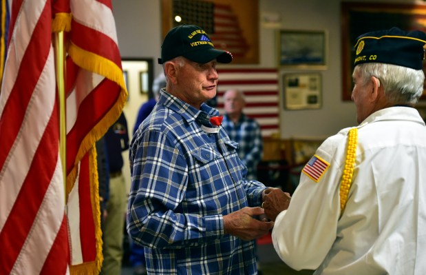 Longmont Vietnam ear veteran pinning ceremony