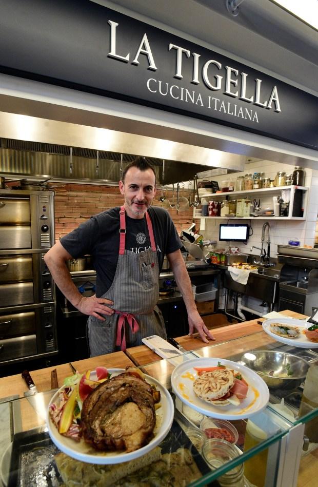 Alberto Sabbadini, owner of La Tigella, ...