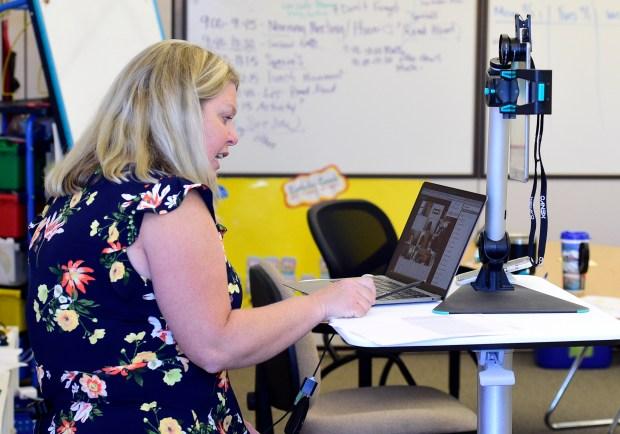 First-grade teacher, Bridget Witko, begins teaching ...