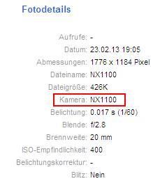 Samsung-NX1100-EXIF-data