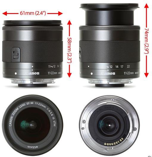 EF-M 11-22mm f/4-5.6 IS STM image