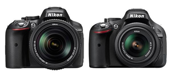 Nikon D5300 vs Nikon D5200 specs-comparison