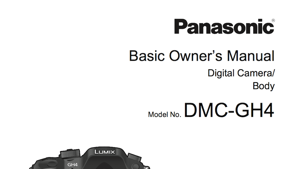 panasonic gh4 user s manual available online daily camera news rh dailycameranews com panasonic user's manual kx-tg6631 panasonic user's manual kx-tg6631