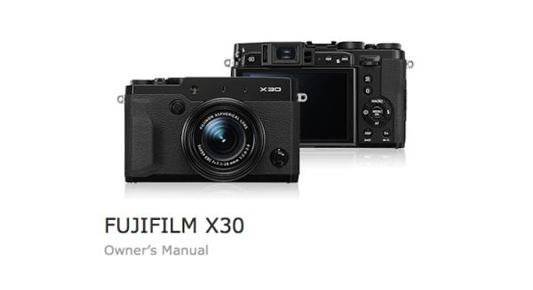fujifilm-x30-users-manual
