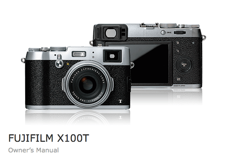 Fujifilm X100T Users Manual