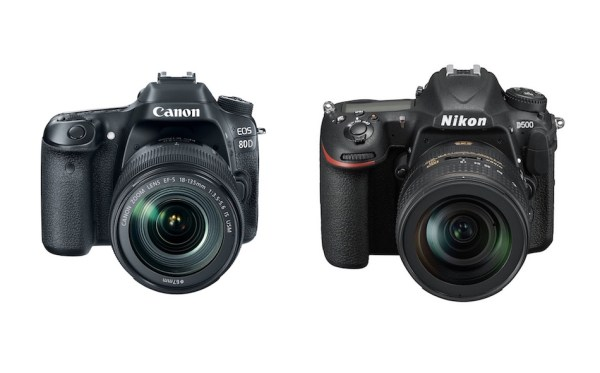 Canon EOS 80D vs Nikon D500 Comparison