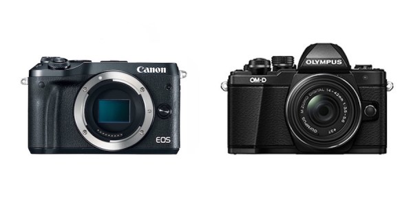 Specifications difference between Canon EOS M6 vs Olympus E-M10 II