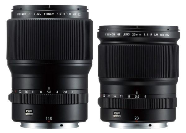 Fuji Releases GF 110mm f/2 R LM WR and GF 23mm f/4 R LM WR Lenses