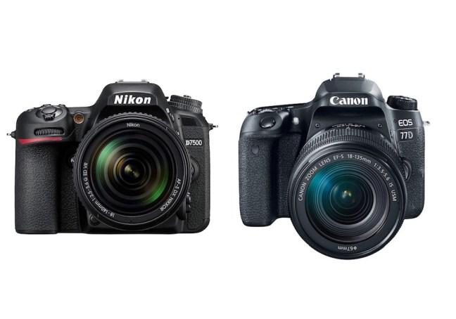 Nikon D7500 vs Canon 77D – Comparison