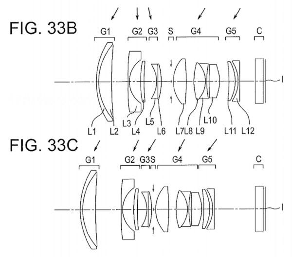 Olympus 12-35mm f/4.0-5.6 MFT lenspatent