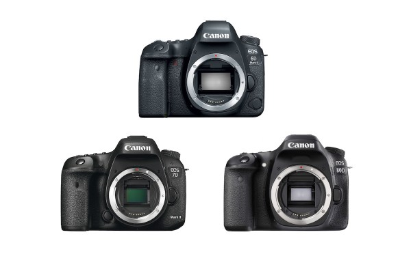 Canon 6D Mark II vs 7D Mark II vs 80D - Comparison