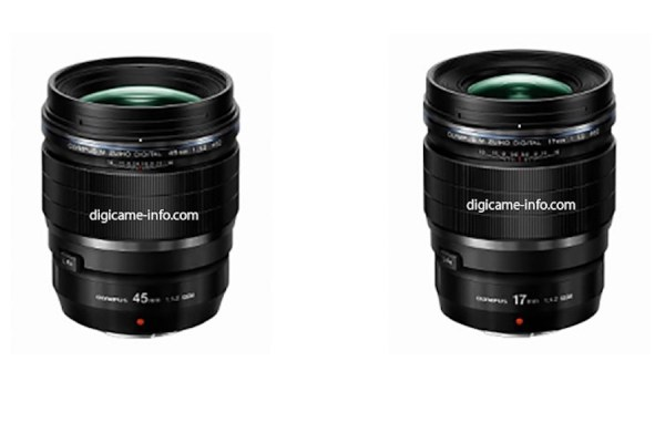 Olympus 17mm and 45mm f/1.2 PRO Lenses to be Priced Around $1,200