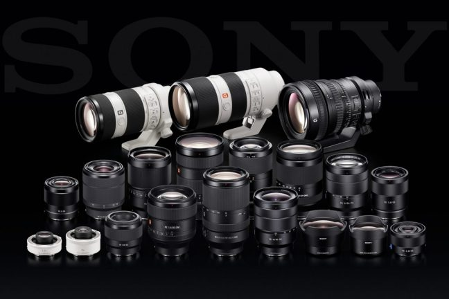 Sony Lenses - Complete List