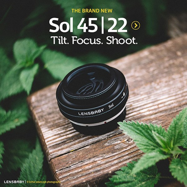 Lensbaby Releases Sol 45 f/3.5 Tilt Lens