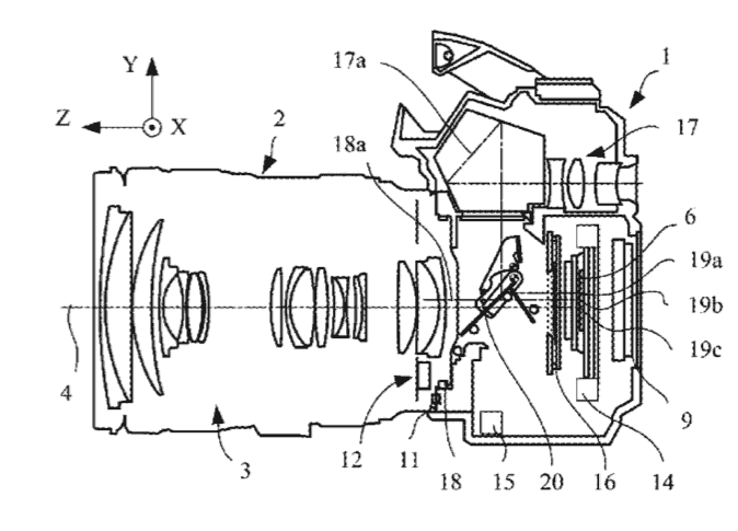 IBIS Patent for Canon DSLR Cameras (EOS 90D or EOS-1D X