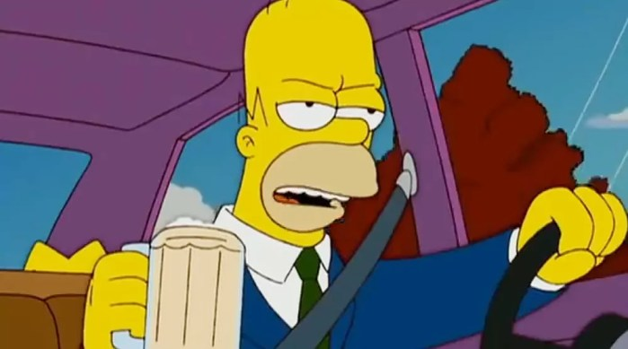 Homer-Simpson-Driving-Drinking-Beer-Dailycarblog