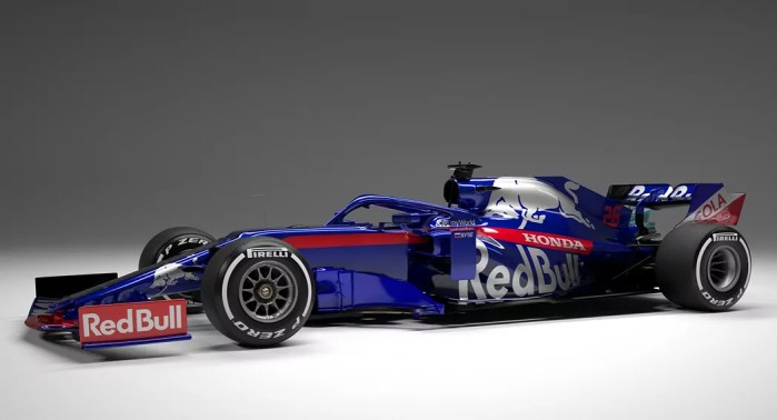 F1 2019 launch season, Torro Rosso side view, dailycarblog.com