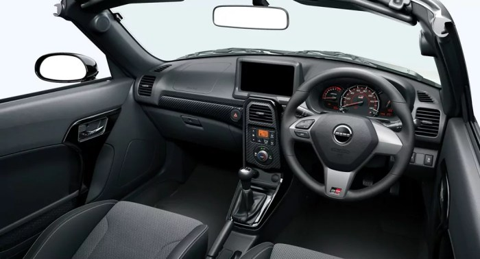 Copen GR Roadster interior dailycarblog.com