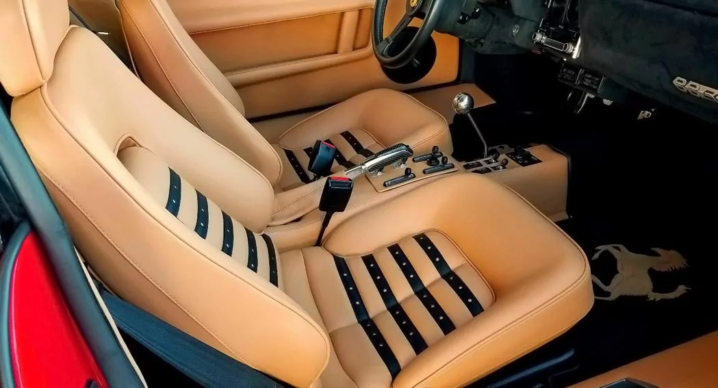 Ferrari 512 BBi, leather seats, dailycarblog