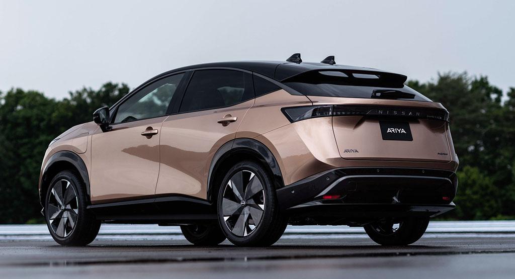 The Nissan Ayria EV, Rear, dailycarblog