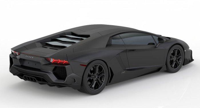 Huber Lamborghini Aventador - Rear - Dailycarblog
