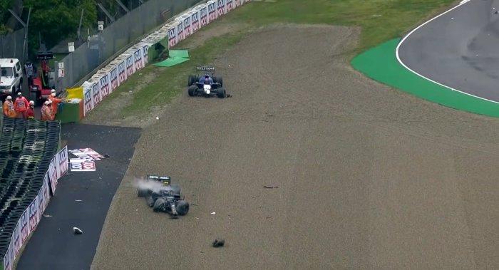 2021 Emilia Romagna Grand Prix - Russel Bottas Crash -  dailycarblog