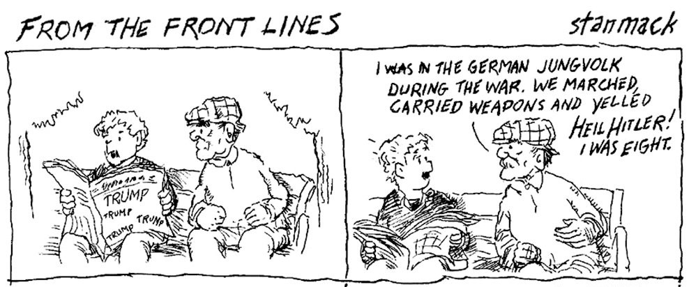 stan mack responded to a new york times piece with an illustrated letter of comment or as the n y times is calling it a comic strip to the editor