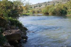 The Parting Of The River Jordan