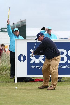 The American professional golfer Mark Calcavecchia