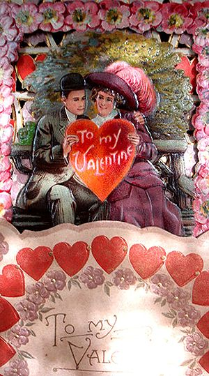 1900's Valentine Card. 3-dimensional fold out....