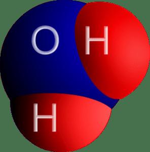 H2O Molecule Representation - Image via Wikipedia