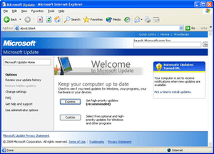 Microsoft Update in Windows XP - Image via Wikipedia