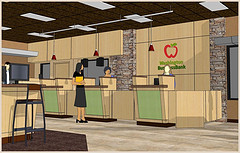 Bank Interior 3D Design | Interior Bank Teller...