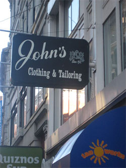 Clothier and tailor in the Financial District ...