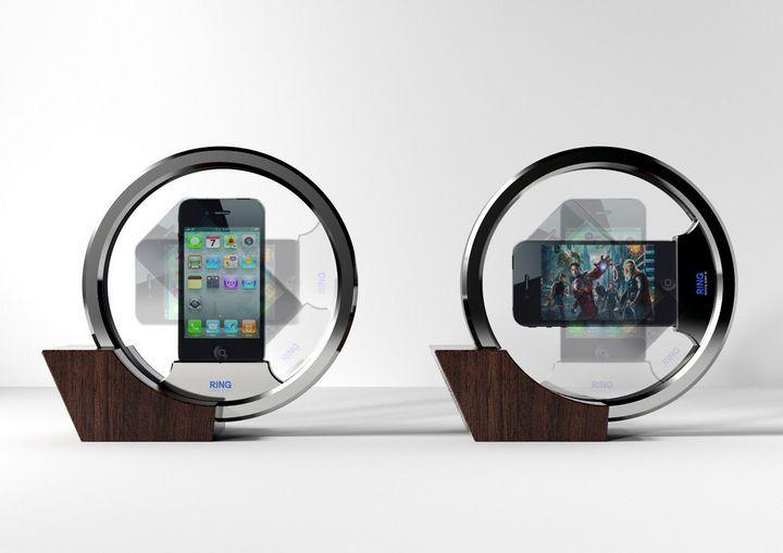 ring docking speaker. Black Bedroom Furniture Sets. Home Design Ideas